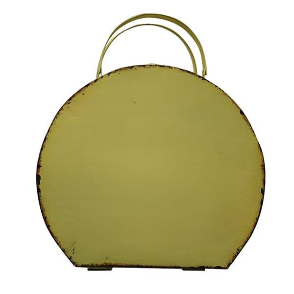 Yellow Tin Hat Box