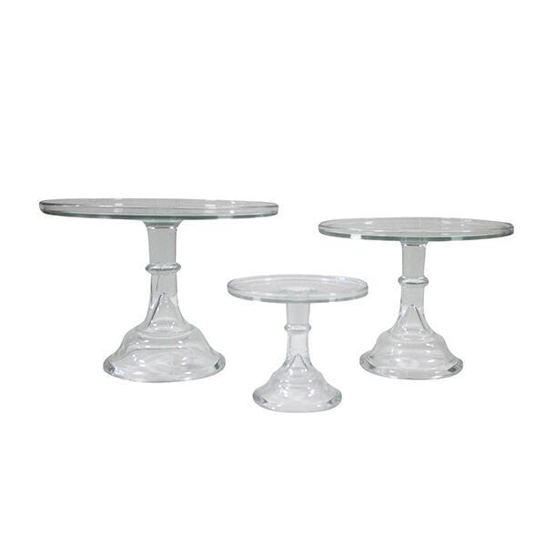 Tall Clear Glass Cake Stand Collection