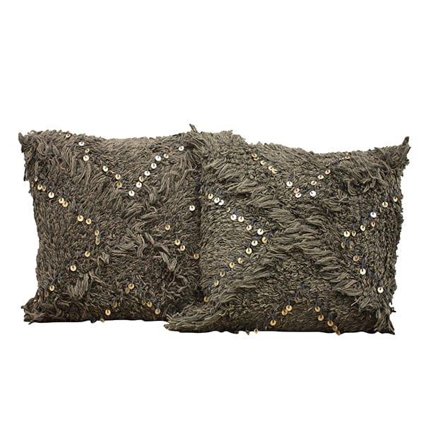 Moroccan Dark Gray Wedding Pillows