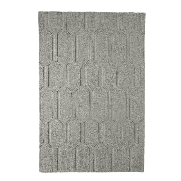 Gray Honeycomb Rug