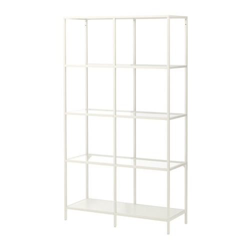 Alison - Metal and Glass Shelving Unit