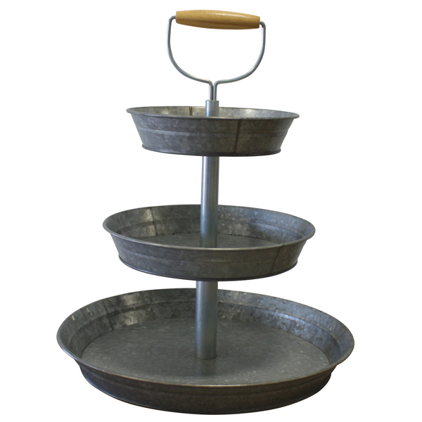 Tin 3-Tier Stand