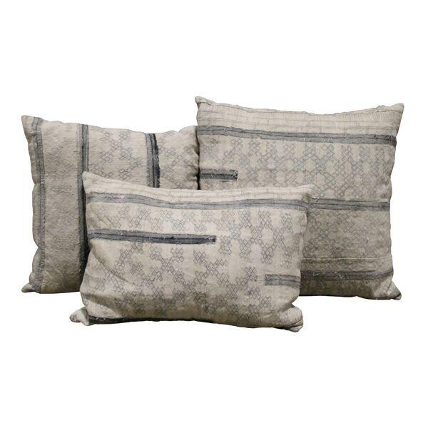 Gray Mudcloth Pillows