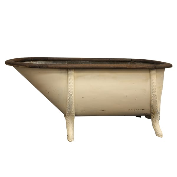 Wood and Galvanized Tub