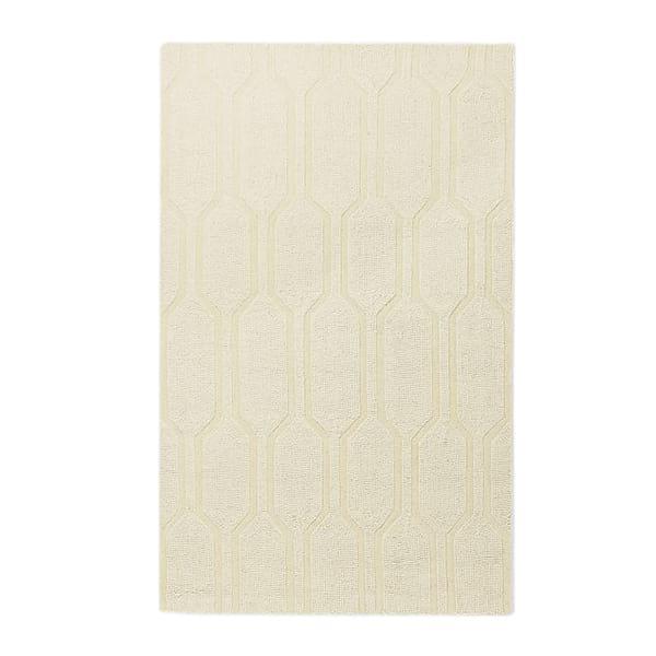 Ivory Honeycomb Rug