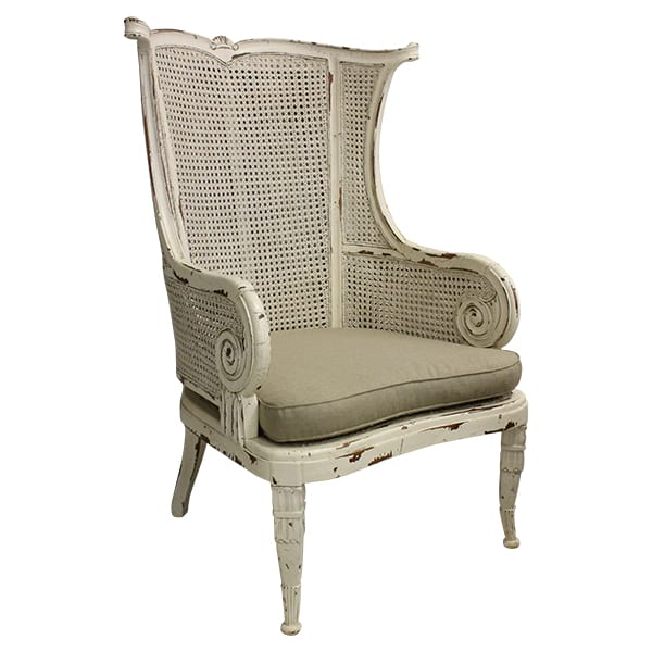Cira Chair - Double Cane Back Wing Chair
