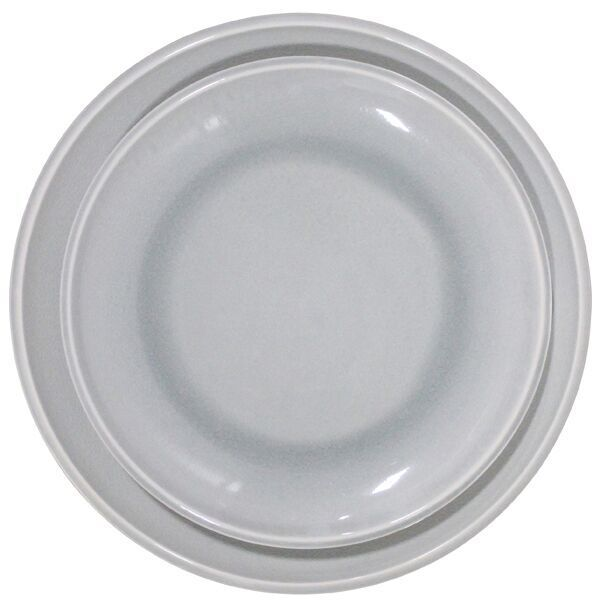 Dusky Blue Dinner and Salad Plate