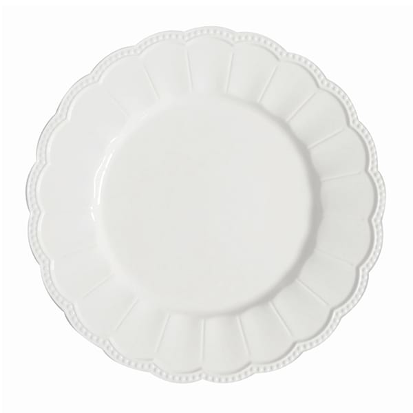 Emily Charger Plate - White