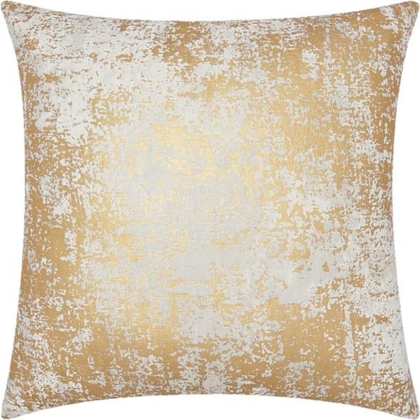 Leo Gold Distressed Metallic Pillow