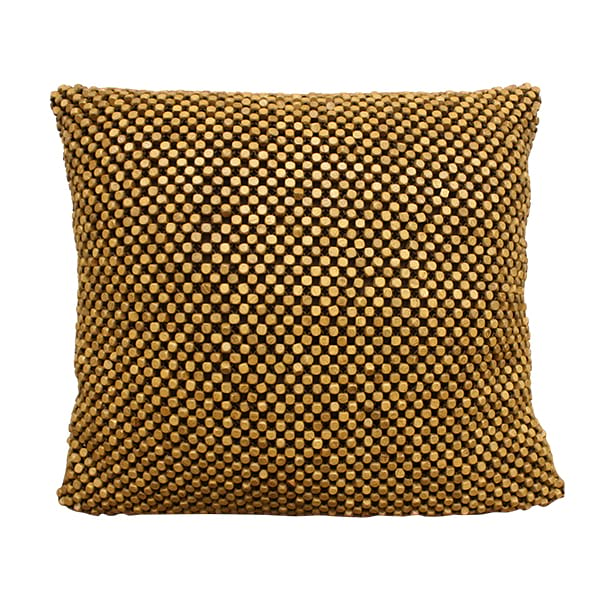 Wooden Beaded Pillow