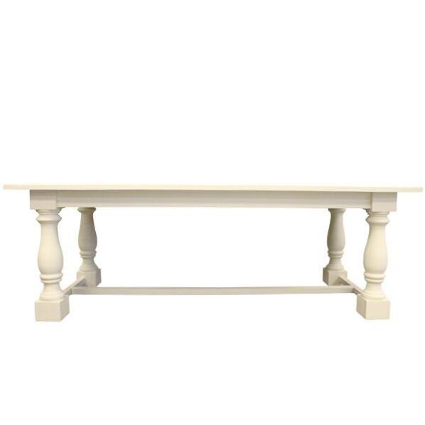 White Trestle Base Table