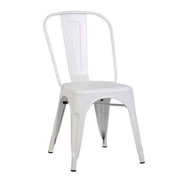 White Matte Metal Chair