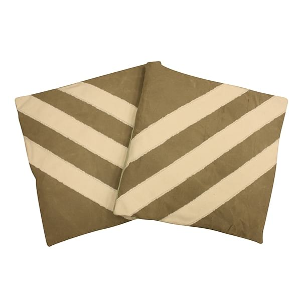 Military Green Striped Pillows