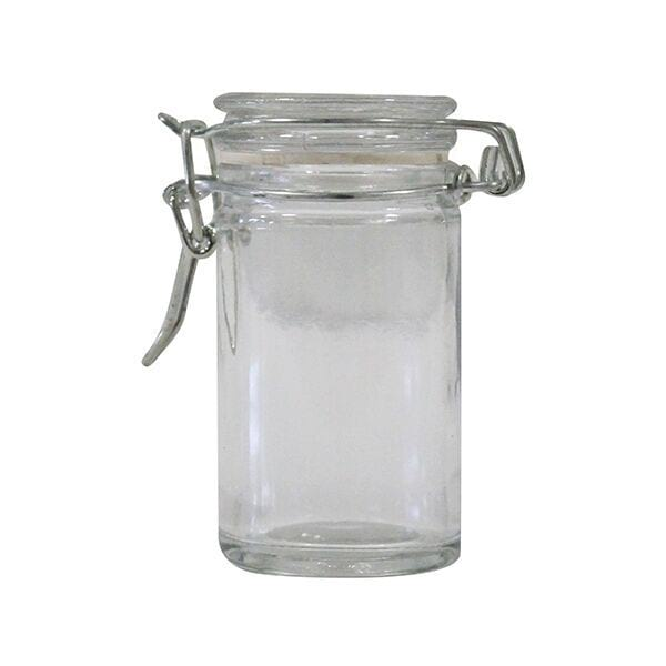 Clear Glass Buckle Container
