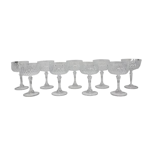 Cut Crystal Champagne Coupe