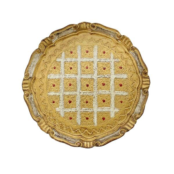 Nickol - Petite Round Florentine Tray