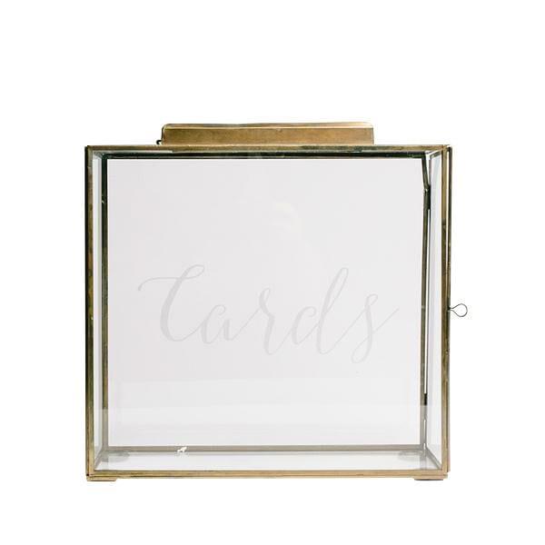 Brass Card Box