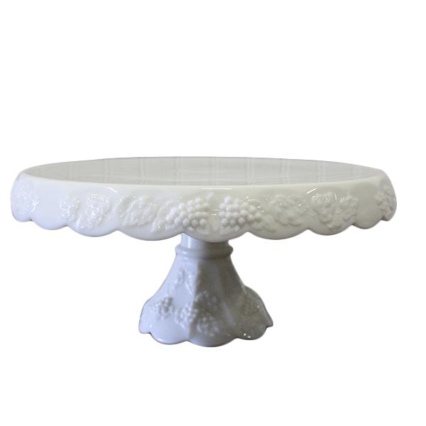 Whitney - West Moreland Milk Glass Cake Stand