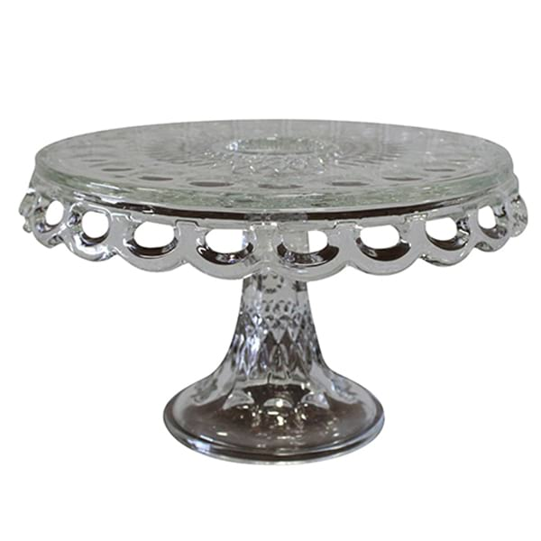 Tabitha - Glass Thumbprint Cake Stand