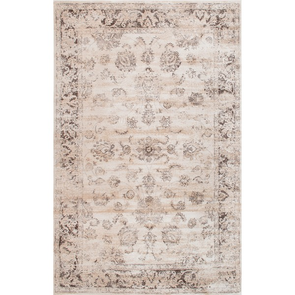 Vintage Persian Neutral Area Rug - Large (8x10)