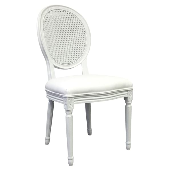 Antrim White Cane Back Chair