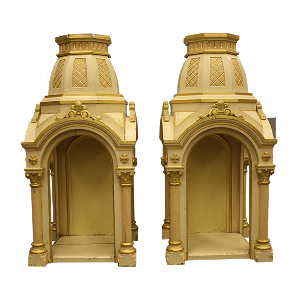 Catherdral Ornate Stands - Pair