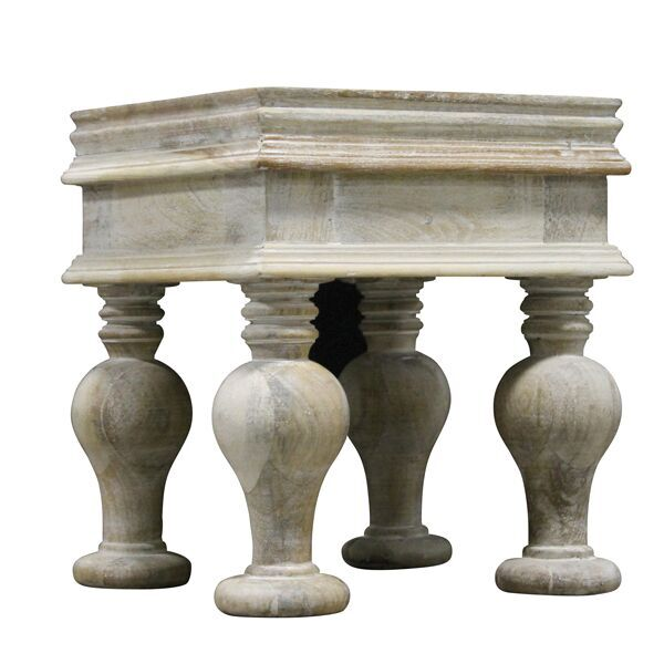 White Wash Pedestal