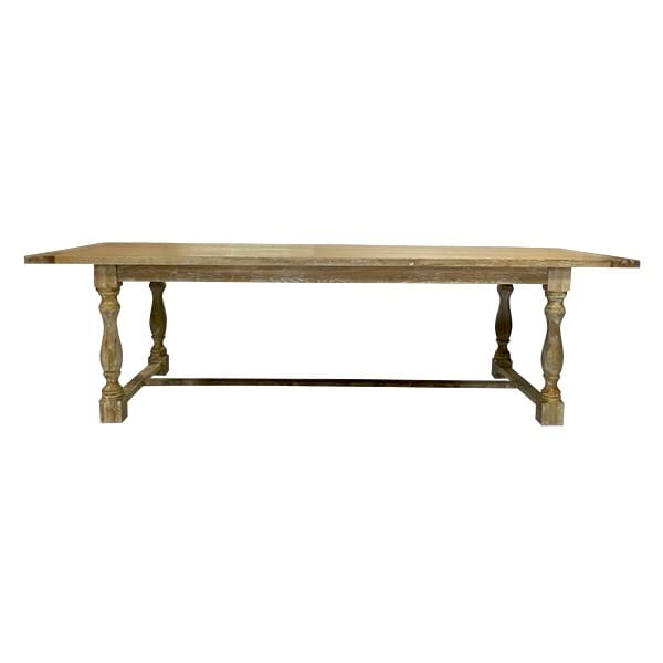 Farm Table - Natural Finish Trestle Table