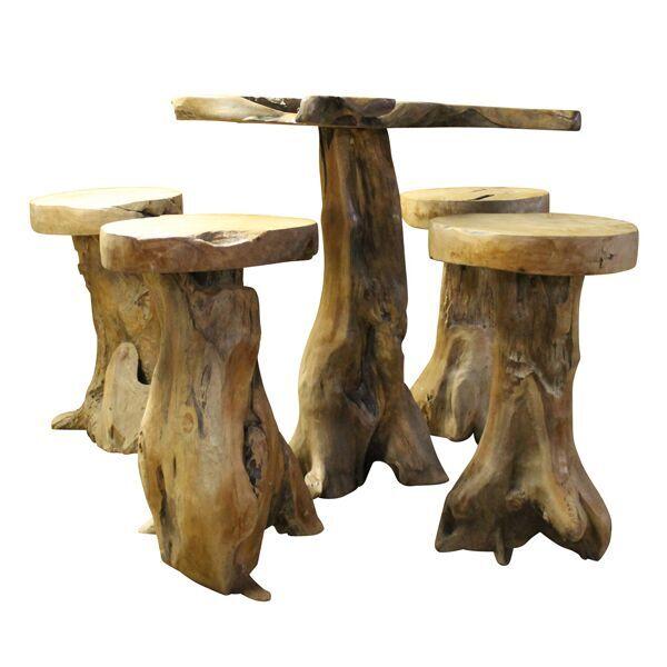 Driftwood Table & Stools