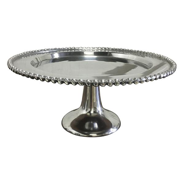 Silver Cake Stand - Medium