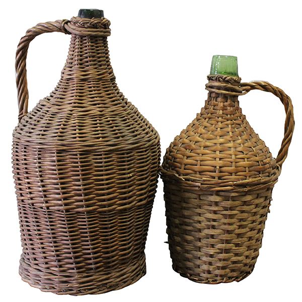 Jacob - Vintage Wicker Wire Jug Pair