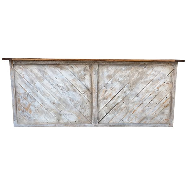 Clifford - White Washed Chevron Bar