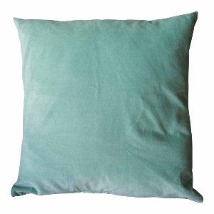 Square Aqua Velvet Pillow
