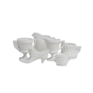 Milk Glass Vessels - Small