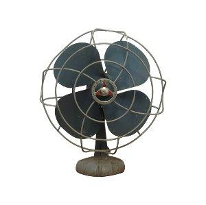 Blue Vintage Tabletop Fan