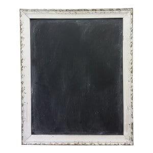 Large White Chippy Framed Chalkboard