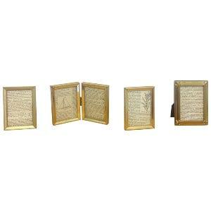 Small Vintage Gold Metal Frames