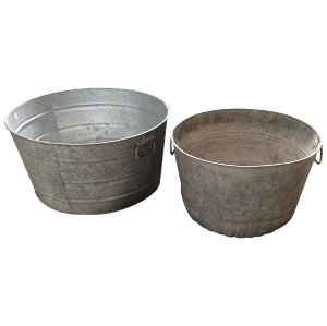 Round Galvanized Tub
