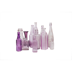 Lavender Glass Vintage Bottles