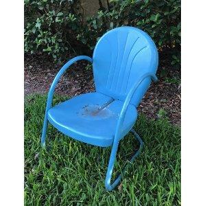 Blue Retro Lawn Chair