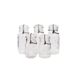 Mason Jars-Assorted Glass Lid
