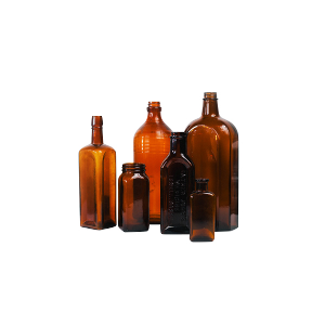Brown Glass Vintage Bottles