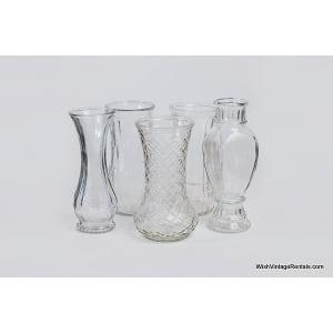 Large Hoosier Glass Bouquet Vases