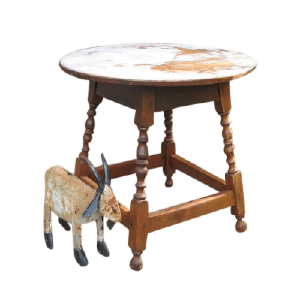 Distressed Round Spindle Table