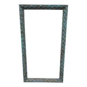 Large Tiffany Blue & Gold Frame
