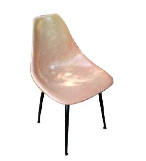Peachy Fiberglass Chair