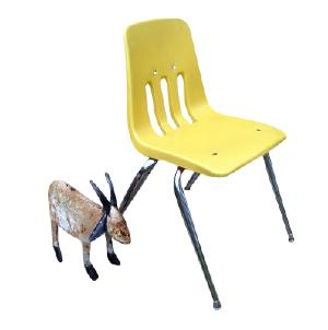 Kids Plastic Yellow Chair