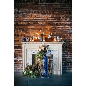 Antique Tile Fireplace Mantel