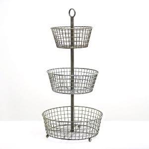 3-Tier Metal Basket Display