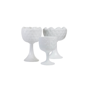 Milk Glass Compotes - Assorted Sizes and Styles